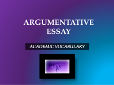 Vocabulary Argumentative Essay