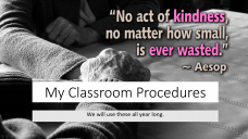 Back-to-school classroom procedures