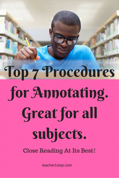 Top 7 Procedures for Annotating. Great for all subjects.