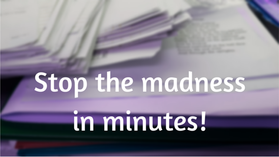Stop the madnessin minutes!